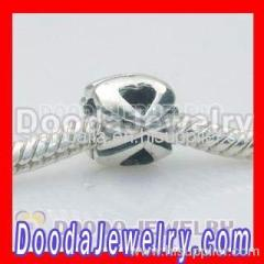 european silver tiffany's silver heart beads