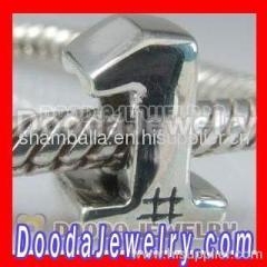 sterling silver european letter beads