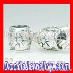 european Silver Flower Charms