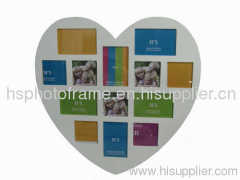 Wooden Photo Frame 13 Opening White Colour
