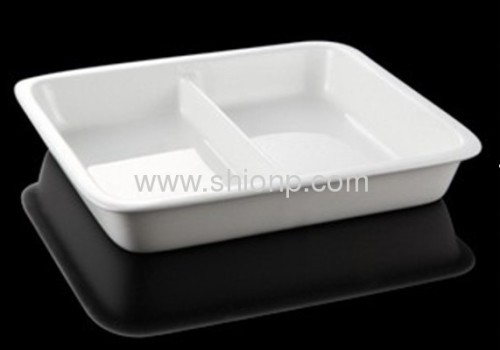 two third divided porcelain food pan