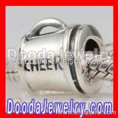 Sterling Silver european Cheerleading Charm