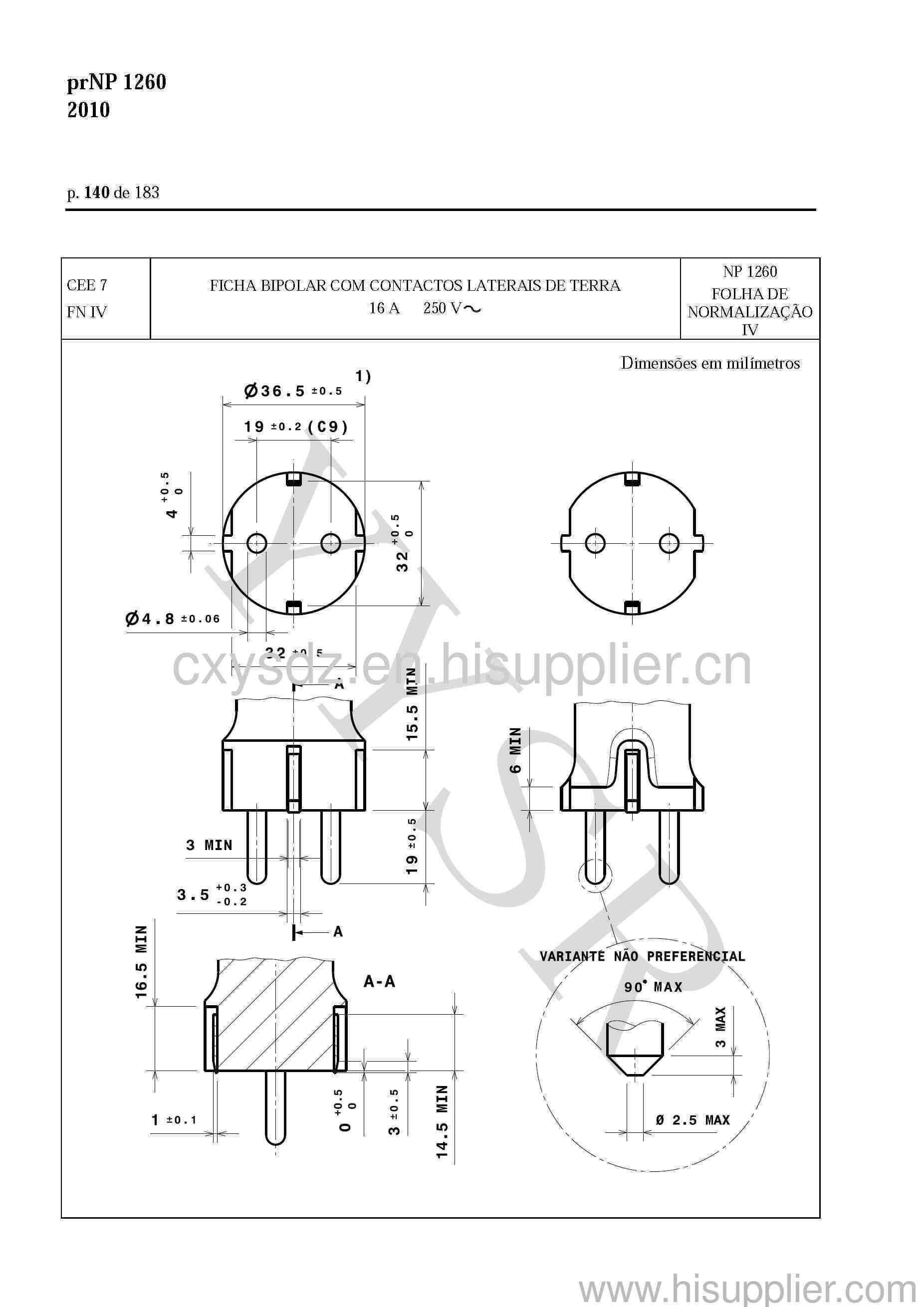 CEE 7/4 schuko plug