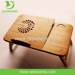 Foldable Bamboo Laptop Cooling Desk For Bed