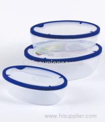 3 pcs Round Plastic Food Container Set