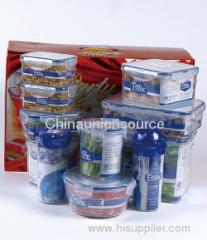 16 pcs Plastic Food Container Set