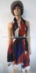 multi color woven shawl measuring 190*90+3cm