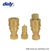 KZD medium-pressure high performance pneumatic and hydraulic quick coupler(brass)