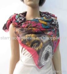 multi color polyester woven scarf