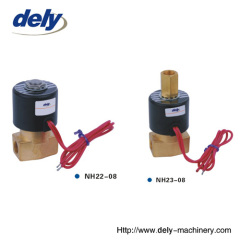NH 2 way brass water solenoid valve