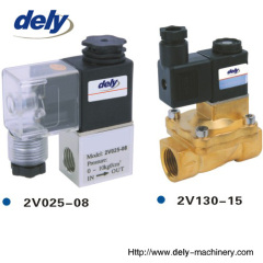 2V 2 way brass water solenoid valve