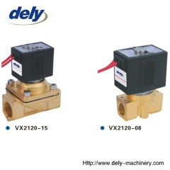 VX 2 way brass water solenoid valve