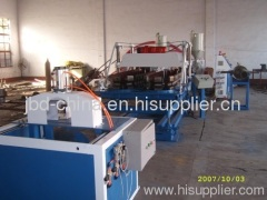 PE single wall corrugated pipe production line