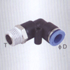Male elbow one touch tube fittings