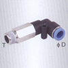 Extended male elbow one touch tube fittings
