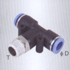 Male branch tee one touch tube fittings