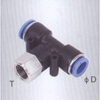 Female branch tee one touch tube fittings