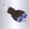 Male Y one touch tube fittings