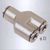 Union Y brass Pneumatic fittings