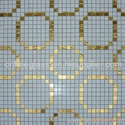 mosaic glass with different pattern