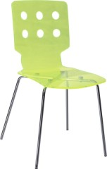 Fashion Acrylic hollow-out back Dining Chair
