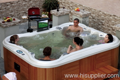 Outdoor hot tub for 8 person home hot tubs hot tubs for Home hot tubs