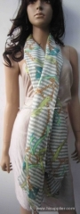 multi color woven scarf, measuring 70*180+1cm