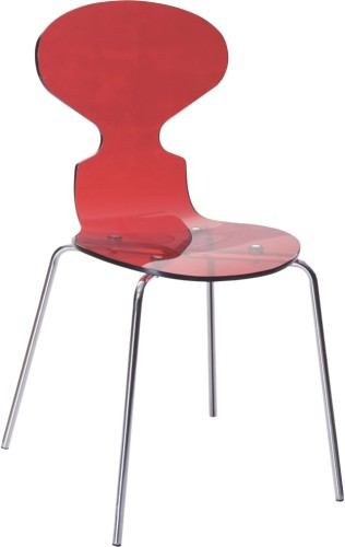 clear red acrylic dining side Chair