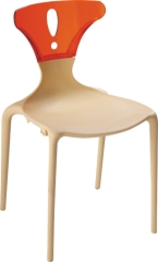 PP+PC Stackable modern side Chair