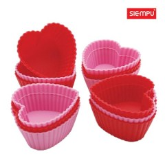 Silicone Heart Muffin/ Cake Cup (6 PCS/Set) (SP-SB005)