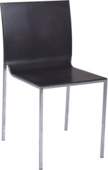 ABS Dining Chair with chromed steel legs