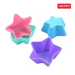 Star Silicone Muffin Cake Cup (SP-SB006)