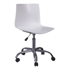white Gas Lift ABS office swivel side chairs