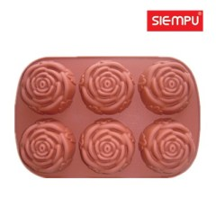 Silicone Rose Muffin/ Cake Mould (SP-SB011)