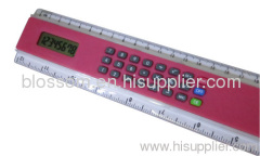 plastic ruler with digital calculator
