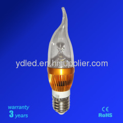led candle light led bulb