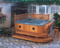 Home hot tubs in garden