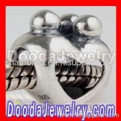 Silver european Happy Family Charms