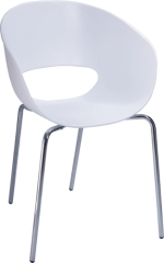white PP Ron Arad Tom Vac Chair with chromed steel base
