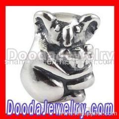 european Silver Koala Charms Beads