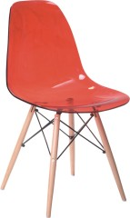 Acrylic wooden legs DSR side Chair