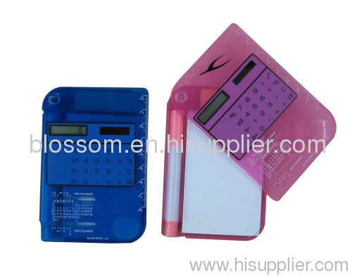 8 Digital Calculator with sticker paper & pen