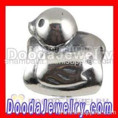 Silver European Duck Charms Wholesale