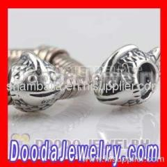 Silver European Fish Charms For Bracelets