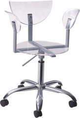 Lily Gas Lift Acrylic Chair