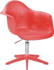 red PP Gas Lift Eames DAR Chair