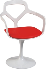PVC Cushion Dining Armchair