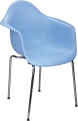 blue steel legs eames armchair
