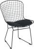 black power coated reticular Bertoia Side Chair