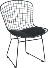 black power coated reticular Bertoia Side Chair